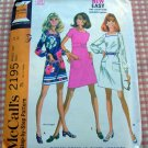 Sixties Mini Dress Vintage Sewing Pattern McCall's 2195