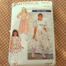 Girls Party Dress Sewing Pattern Size 7 Butterick 4583
