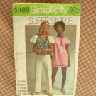 Simplicity 5468 Vintage Sewing Pattern 70s mini dress or top
