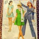 Mini Dress Tunic and Pants Simplicity 8881 Vintage Pattern