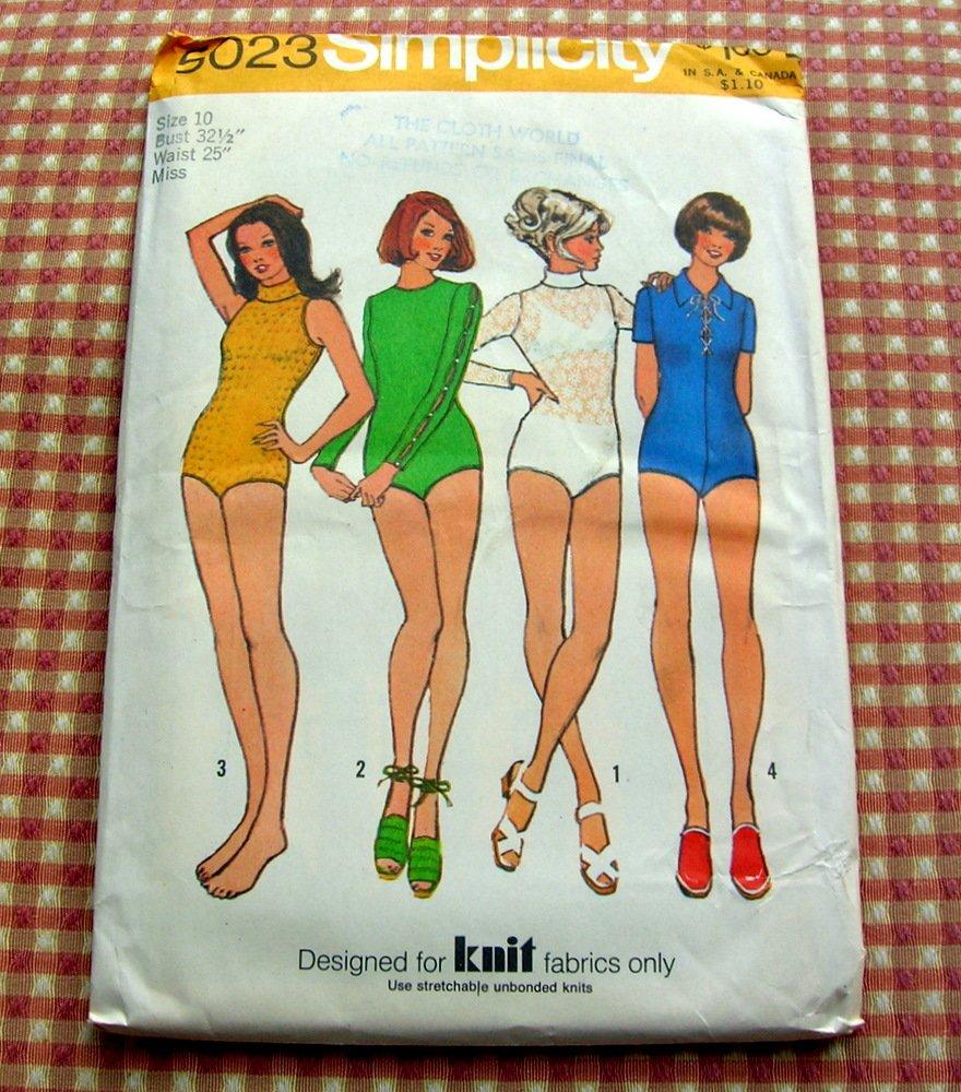 Bodysuit Vintage Sewing Pattern Simplicity 5023