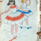 Girl's Dress and Petticoat Vintage Sewing Pattern McCall's 4400