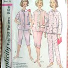 Simplicity 4006 Vintage Sewing Pattern Misses Pajamas