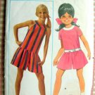 Girl's Culottes Dress Vintage Sewing Pattern Butterick 4810