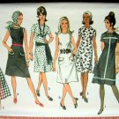 A-line Midi Length Dress Vintage Sewing Pattern Simplicity 9315