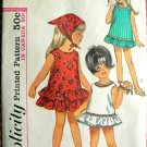 Toddler's Ruffled A-line Dress Vintage Sewing Pattern Simplicity 5989