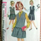 Girls Jumper and Blouse Vintage Sewing Pattern Simplicity 5598