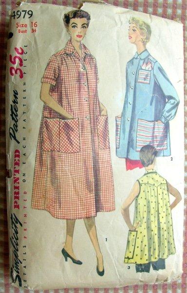 Misses Smock Vintage Sewing Pattern Simplicity 4979
