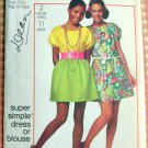 Boho Dress or Blouse Vintage Sewing Pattern Simplicity 8634