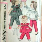 Simplicity 3725 Sewing Pattern for Toddler Smock Top and Pants