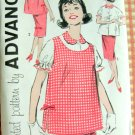 Mad Men Era Maternity Separates vintage sewing pattern Advance 9268