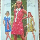 Mini Dress and Short Shorts Vintage 70s Sewing Pattern Simplicity 9883