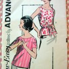 Blouse Tops Vintage Sewing Pattern Advance 2809