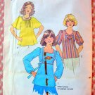Boho Peasant Top Vintage Sewing Pattern Simplicity 7623