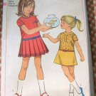 Girl's Pleated Dress Vintage Sewing Pattern Simplicity 6951