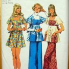 Mini Dress Bell Bottom Pants Vintage Sewing Pattern Simplicity 5691
