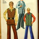 Men's Mod Pants and  Vest Vintage Sewing Pattern Simplicity 8559