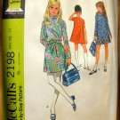 Girl's Mod  Dress Vintage Sewing Pattern McCalls 2198