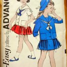 Sailor Suit Vintage Sewing Pattern Advance 2775 Size 2