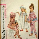 Pajamas, Nightgown and Mobcap Vintage Sewing Pattern Simplicity 5080 Size 5