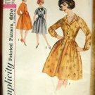 Vintage Original Sewing Pattern Misses Shirtwaist Dress Simplicity 4692