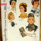 Womans Clutch Purse, Pillbox Hat and Beret Vintage Sewing Pattern Simplicity 4178