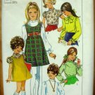 Girl's Jumper and Blouse Vintage Sewing Pattern Simplicity 8374