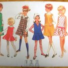 Girls Dress Or Jumper Vintage Sewing Pattern Butterick 4974