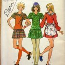 Mini  Dress Knit Top and Apron Vintage 70s Sewing Pattern Simplicity 9777