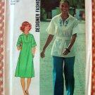 Vintage 70s Sewing Pattern Simplicity 7430 Misses Dress, Top, Pants