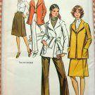 Misses Jacket, Pants and Wrap Skirt Vintage Sewing Pattern Simplicity 9929