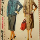 Misses Jacket  and Skirt Vintage Sewing Pattern Simplicity 4871