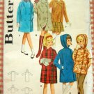 Girls Winter Coat  Vintage Sewing Pattern Butterick 2925