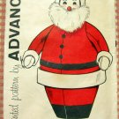 Christmas Craft Santa Pajama Case Vintage Sewing Pattern Advance 9601
