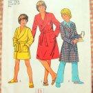 Boys Monogrammed robe vintage pattern Simplicity 7066