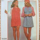 Misses Mini Dress Vintage Sewing Pattern Simplicity 9832