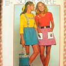 Mini Skirt and Bag Vintage 70s Sewing Pattern Simplicity 9831