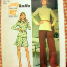 Misses Knit Top, Skirt and Pants Vintage Sewing Pattern Simplicity 5841