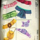 Fifties Fabric Flowers, Belts, Purses Vintage Sewing Pattern McCalls 2382