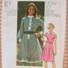 Misses Country Style Dress Vintage Pattern Simplicity 9849