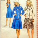 Half Size Dress and Blazer Jacket Vintage Pattern Simplicity 9866