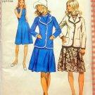 Half Size Dress and Blazer Jacket Vintage Pattern Simplicity 9866