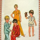 Boys Pajamas Vintage Sewing Pattern Butterick 4584
