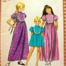 Girls Prairie Maxi Dress Vintage Pattern Simplicity 9956