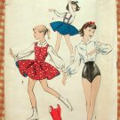Gir'ls Skating, Dance Costumes Vintage Sewing Pattern Advance 8385