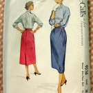 Misses Slim Skirt  Vintage Sewing Pattern McCalls 9516
