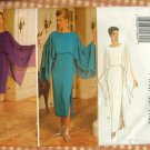 Misses Bat Wing Evening Gown Dress Vintage Sewing Pattern Butterick 3802