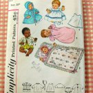Thumbelina Doll Layette Vintage Sewing Pattern Simplicity 4723