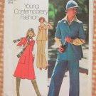 Misses 70s Dress, Scarf, Hat  Vintage Sewing Pattern Simplicity 7297