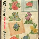 Flowers Forties Vintage Embroidery and Appliques Craft Pattern Simplicity 7414